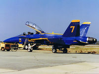 161932 @ KNTD - USN Blue Angel #7 161932 McDonnell-Douglas F/A-18A-11-MC Hornet - by Iflysky5