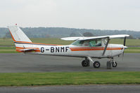G-BNMF @ EGBO - Cessna 152 at Wolverhampton 2009 Easter Fly-In day