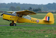 G-BLPG @ EGBO - 1959 Auster wearing CAF 16639 markings at Wolverhampton 2009 Easter Fly-In day
