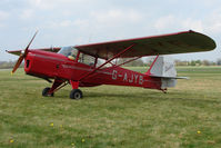 G-AJYB @ EGBO - 1947 Stampe SV4C at Wolverhampton 2009 Easter Fly-In day