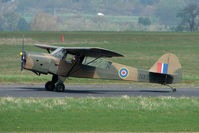 G-BUDL @ EGBO - 1943 Auster 3 carried Serials NX 534 at Wolverhampton 2009 Easter Fly-In day