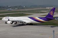 HS-TND @ ZRH - Airbus A340-642