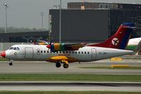 OY-JRY @ VIE - Danish Air Transport Aerospatiale ATR-42 - by Joker767