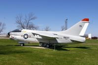 158657 @ IXD - A-7E with a bogus call sign.  Displayed by the Army National Guard area - by Glenn E. Chatfield
