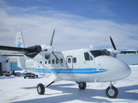 C-GNQY @ CYYR - Parked at Air Labrador Terminal ( New Paint Job ) - by Frank Bailey