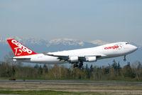 OO-CBD @ KPAE - KPAE Boeing 480 departing on its first flight