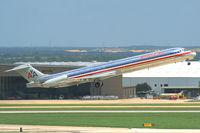N76202 @ KSAT - AA MD83 during takeoff