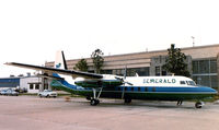 N377NE @ FTW - Emerald Air F-27 at Meacham Field