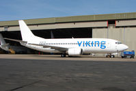 SE-RHT @ EGNX - Former BMI Baby B737 now in new livery with Viking