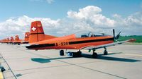 A-928 @ EDDB - Pilatus PC-7 of the Swiss Air Force Display Team (with all it's teammates) at the ILA 1998, Berlin