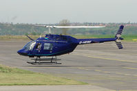 G-HEBE @ EGBN - Bell 206B at Tollerton