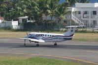 N410MN @ TNCM - Landing 10 - by daniel jef