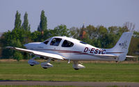 D-ESVC @ EDAD - A beautiful CIRRUS SR 20 is leaving Dessau airfield - by Holger Zengler