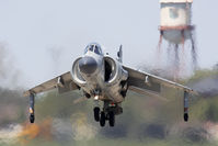 N94422 @ LFI - Art Nalls in the only civilian-registered 1979 British Aerospace Sea Harrier FA.2 N94422 performing a vertical takeoff maneuver. - by Dean Heald