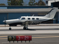 N709CH @ KSMO - N709CH departing from RWY 21 - by Torsten Hoff