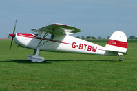 G-BTBW @ EGBK - 1947 Cessna 120 on the first day of the Luscombe and Cessna Historic Weekend Fly-in at Sywell UK