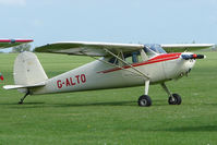 G-ALTO @ EGBK - 1948 Cessna 140 on the first day of the Luscombe and Cessna Historic Weekend Fly-in at Sywell UK