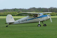 G-AKVM @ EGBK - 1947 Cessna 120 on the first day of the Luscombe and Cessna Historic Weekend Fly-in at Sywell UK