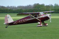 G-KENM @ EGBK - 1946 Luscombe 8E on the first day of the Luscombe and Cessna Historic Weekend Fly-in at Sywell UK