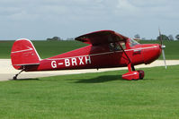 G-BRXH @ EGBK - 1946 Cessna 120 on the first day of the Luscombe and Cessna Historic Weekend Fly-in at Sywell UK