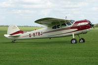 G-BTBJ @ EGBK - 1952 Cessna 190 on the first day of the Luscombe and Cessna Historic Weekend Fly-in at Sywell UK
