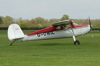 G-OWIL @ EGBK - Cessna 120 on the first day of the Luscombe and Cessna Historic Weekend Fly-in at Sywell UK