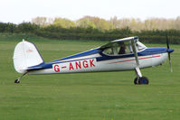 G-ANGK @ EGBK - 1950 Cessna 140A on the first day of the Luscombe and Cessna Historic Weekend Fly-in at Sywell UK