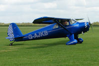 G-AJKB @ EGBK - 1946 Luscombe 8E on the first day of the Luscombe and Cessna Historic Weekend Fly-in at Sywell UK