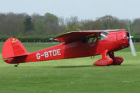 G-BTDE @ EGBK - 1940 Cessna 165 on the first day of the Luscombe and Cessna Historic Weekend Fly-in at Sywell UK