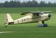 G-BNIO @ EGBK - 1946 Luscombe 8A on the first day of the Luscombe and Cessna Historic Weekend Fly-in at Sywell UK