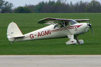 G-AGMI @ EGBK - 1941 Luscombe 8E on the first day of the Luscombe and Cessna Historic Weekend Fly-in at Sywell UK