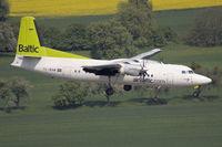 YL-BAW @ EDDR - Air Baltic Fokker50 at short final RW09