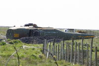 XD165 @ EGCK - Westland helicopter on the fire dump at Caernarfon Airworld - by Chris Hall