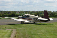 G-OONE @ EGBM - Mooney M20J in Rural Staffordshire setting