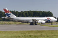 9G-MKL @ ELLX - Mike Kruger Airlines B747-2R7F/SCD turns into RW24 at Findel - by FBE