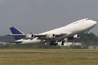 9G-MKU @ ELLX - Mike Kruger Airlines B747-249F/SCD takes off from Findel - by FBE