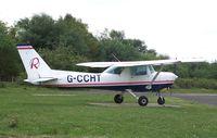 G-CCHT @ EGLK - Cessna 152 at Blackbushe - by moxy