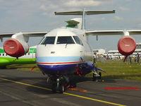 D-BDXE @ EGLF - Farnborough Airshow 2004. - by Andrew Simpson