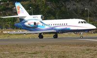 N60TL @ TNCM - taxing runway 10 - by daniel jef