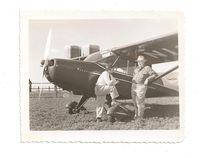 N1327H @ CNU - Aeronca Dealer A.W. Mee and owner of A/C John C. Jensen of Chanute, Kansas - by robertfinch