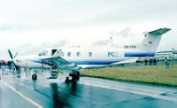 HB-FON @ EGLF - Pilatus PC-12 at Farnborough International 1998
