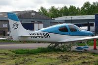 N843SR @ EGBJ - Cirrus SR22 visitor to Staverton