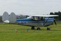 G-AKVF @ EGBP - 1948 ChrisLea CH3 Super Ace Series 2 at Kemble on Great Vintage Flying Weekend
