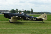 G-ADGP @ EGBP - 1935 Miles M2L Hawk Six at Kemble on Great Vintage Flying Weekend