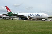 N767HS @ EGBP - Air Seychelles B767 in storage at Kemble