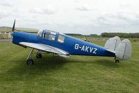 G-AKVZ @ EGBP - 1945 Miles Messenger 4B at Kemble on Great Vintage Flying Weekend