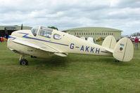 G-AKKH @ EGBP - 1947 Miles M65 Gemini 1A at Kemble on Great Vintage Flying Weekend