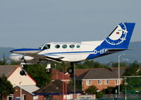 D-ISAV @ EGNR - Cessna 402B Businessliner, Aerodata Surveys - by Chris Hall