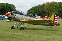G-BTBH @ EGBP - 1942 Ryan ST3KR (ex 41-20854) at Kemble on Great Vintage Flying Weekend