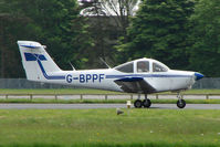 G-BPPF @ EGBP - Visiting Piper Tomahawk at Kemble on Great Vintage Flying Weekend